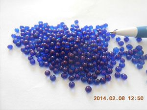 蓝色玻璃微珠